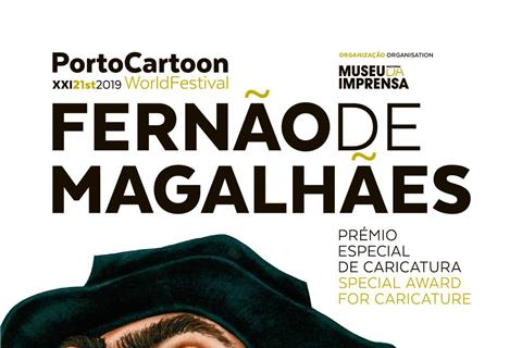 (Ferdinand Magellan in caricature) Exhibition by the National Press Museum